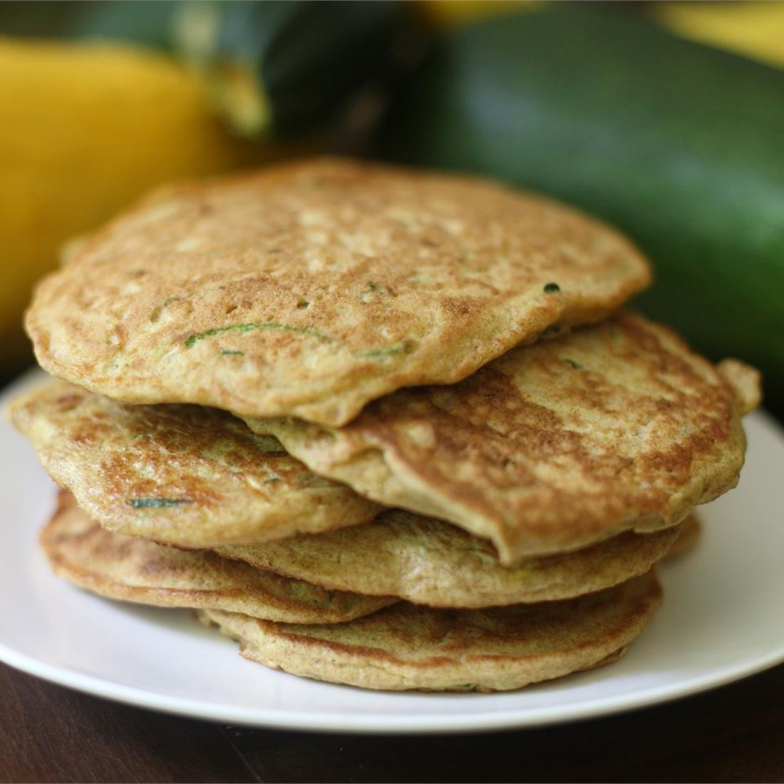 a stack of zucchini pancakes