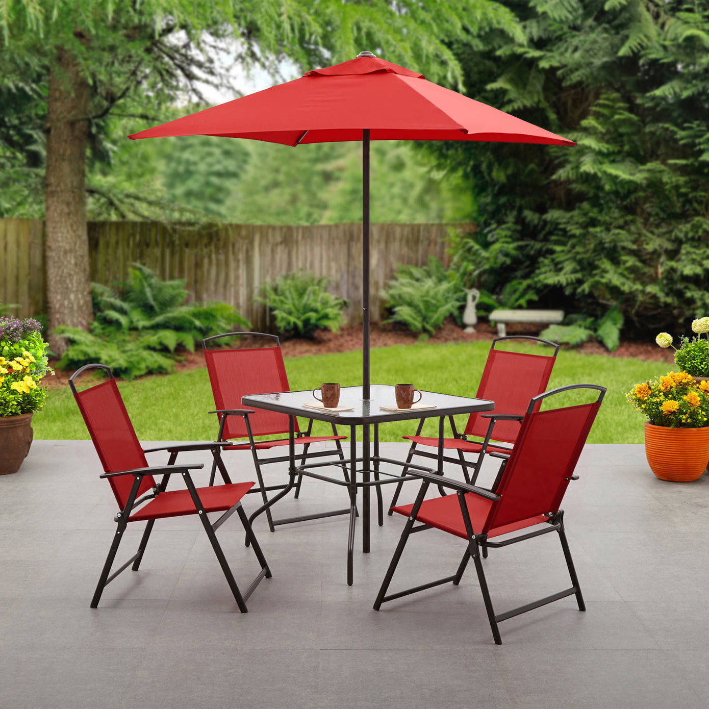 Mainstays Albany Lane 6-Piece Outdoor Patio Dining Set