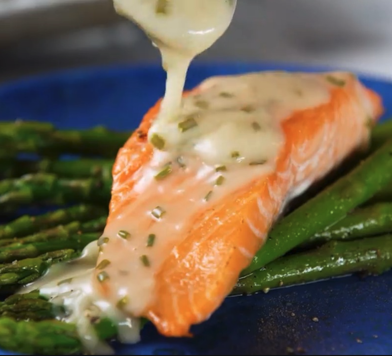 Roasted Salmon with White Wine