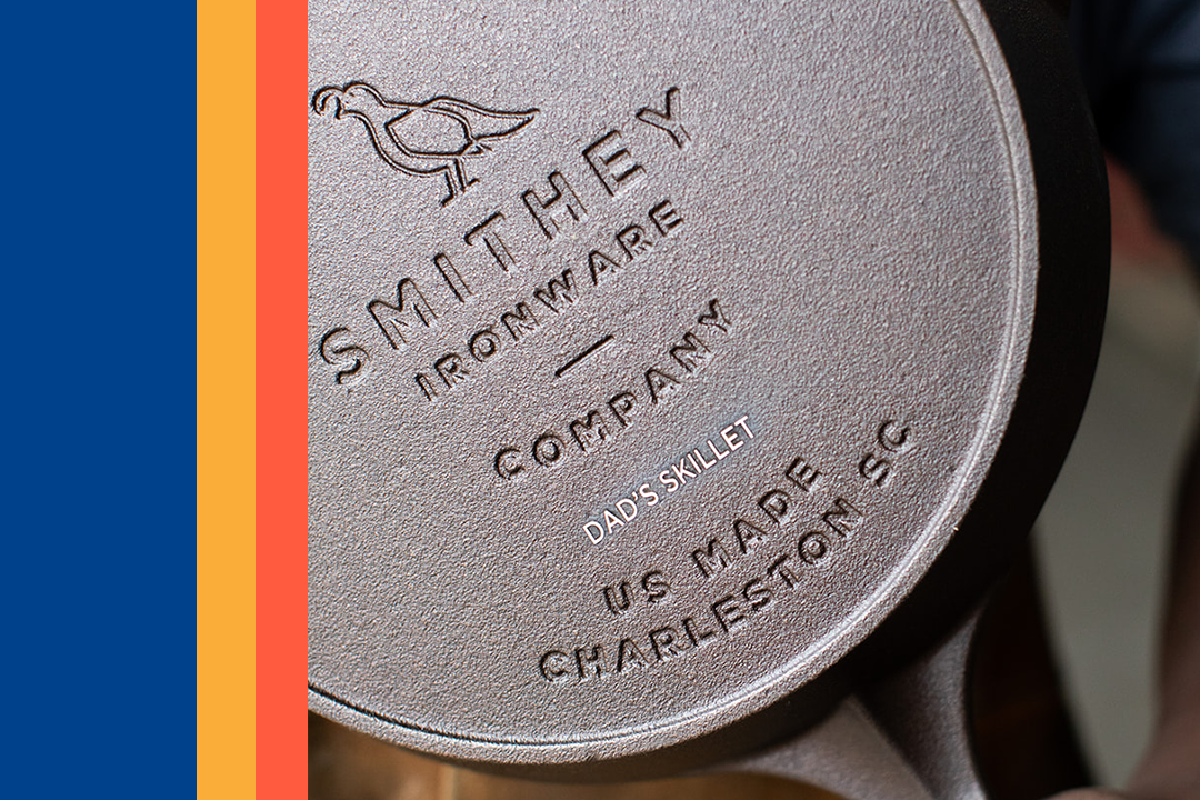 smithey father's day engraved skillet