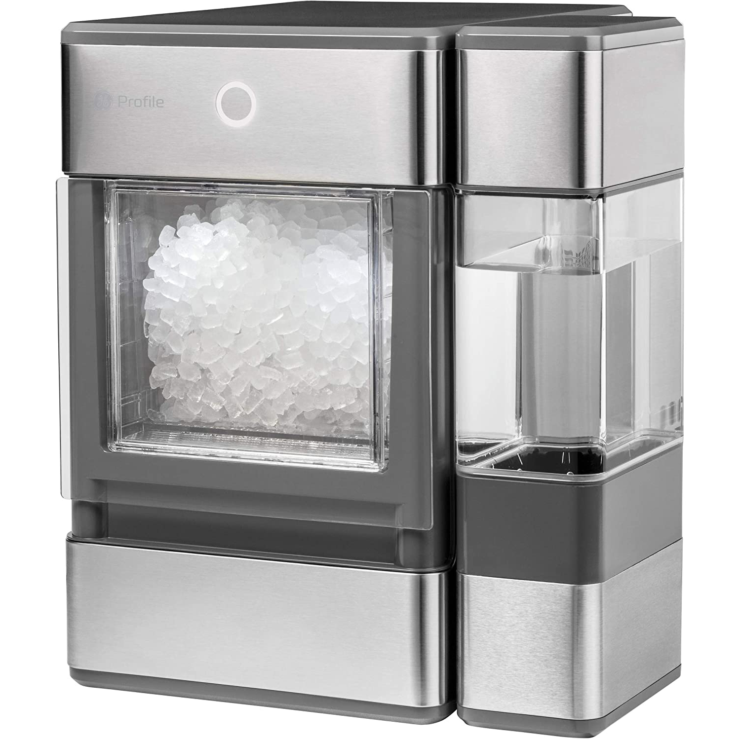 GE Profile Opal Countertop Nugget Ice Maker on a white background