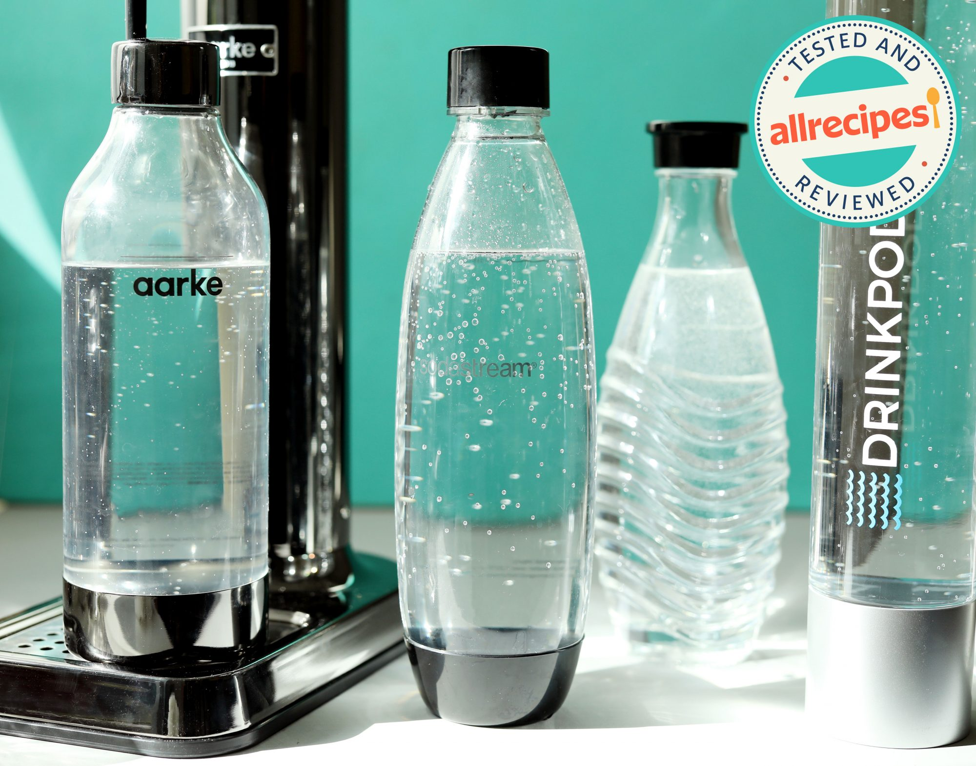 soda makers with carbonated water inside