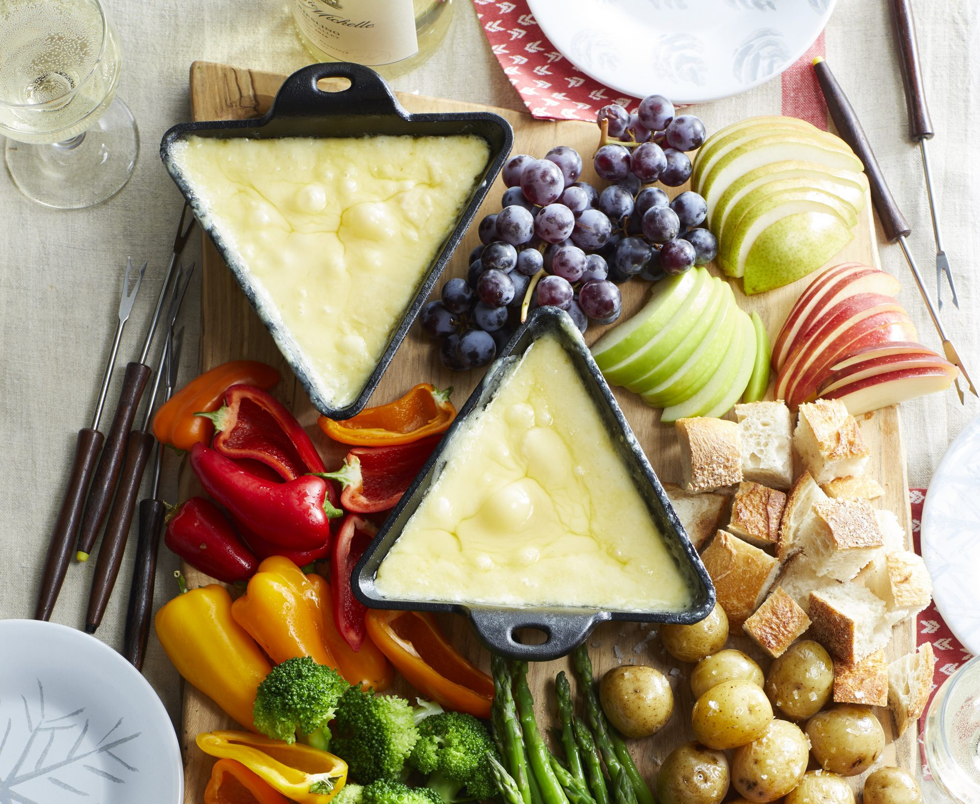 Raclette cheese board