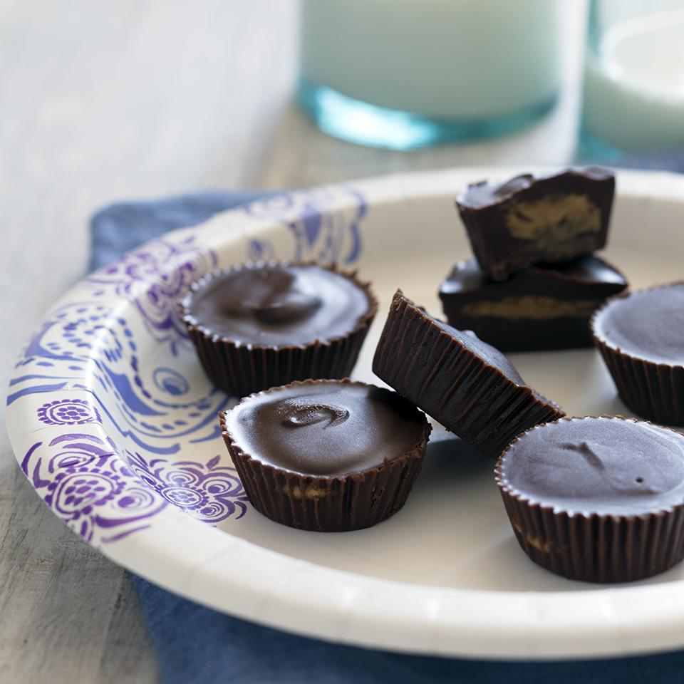 Peanut Butter Cups on a paper plate