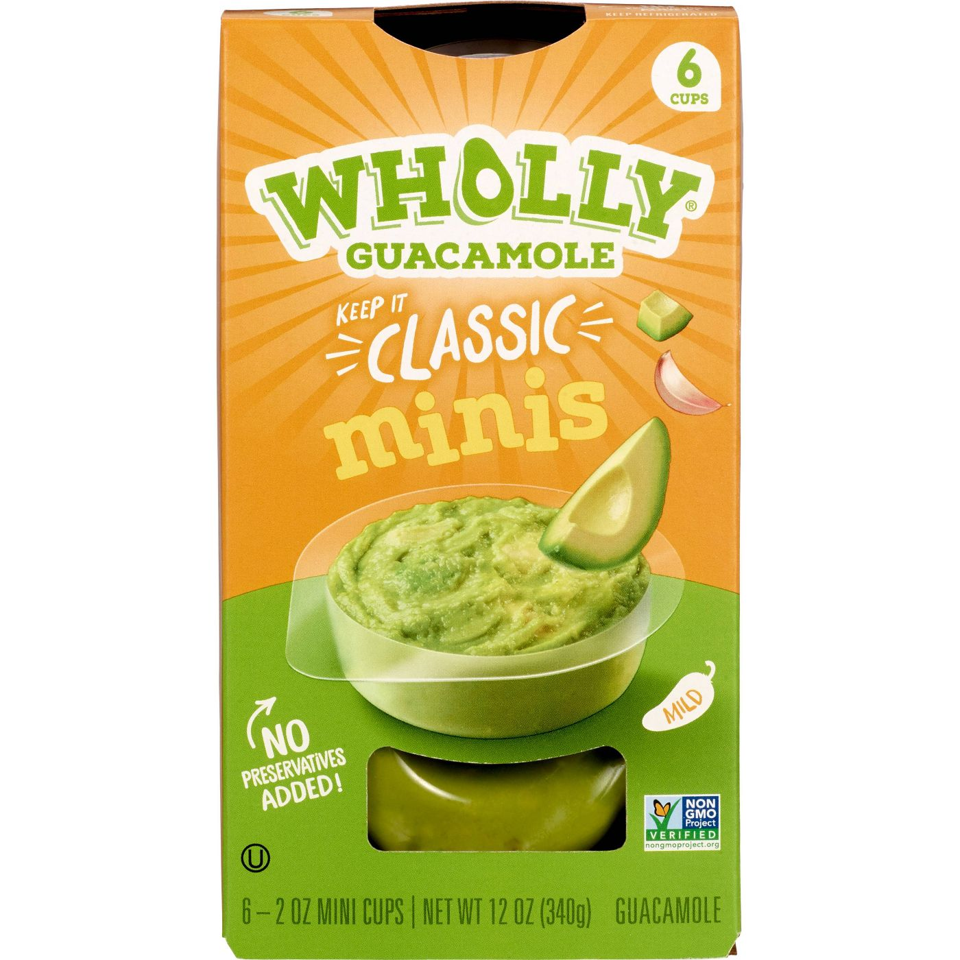 pack of Wholly Guacamole Classic Mini Bowls