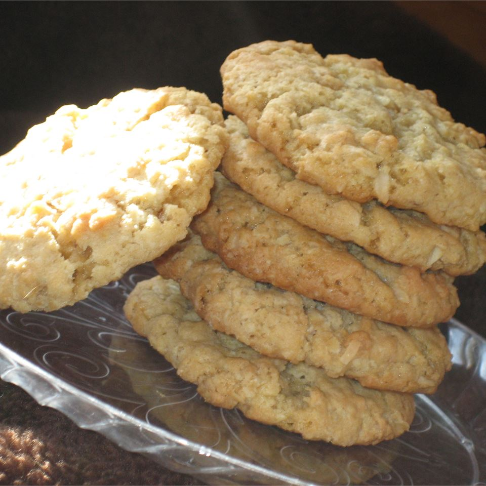 Ranger Cookies on a silver plate
