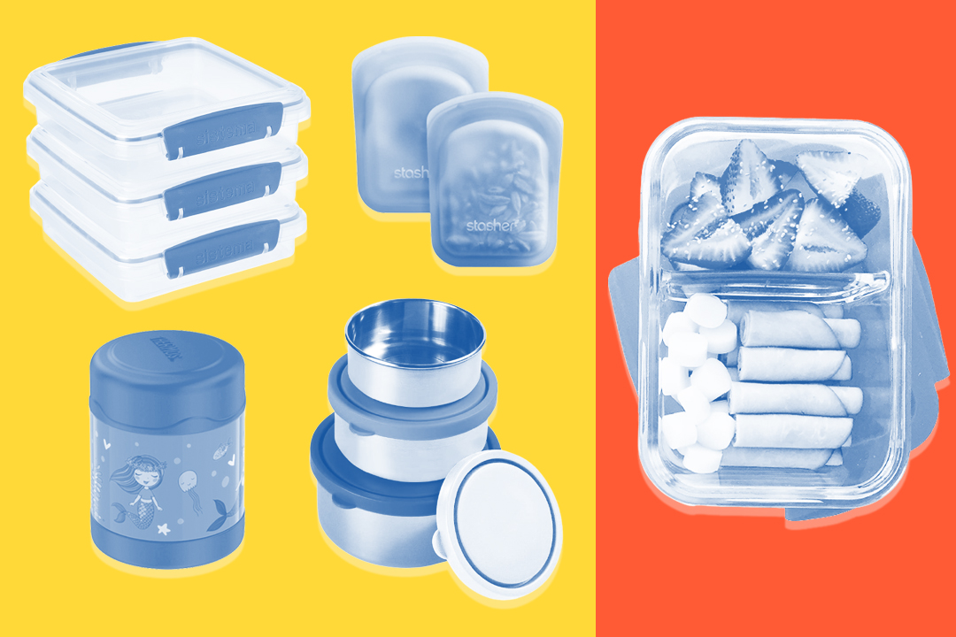 school lunch thermos, stainless steel containers, sandwich containers, reusable bags, glass container