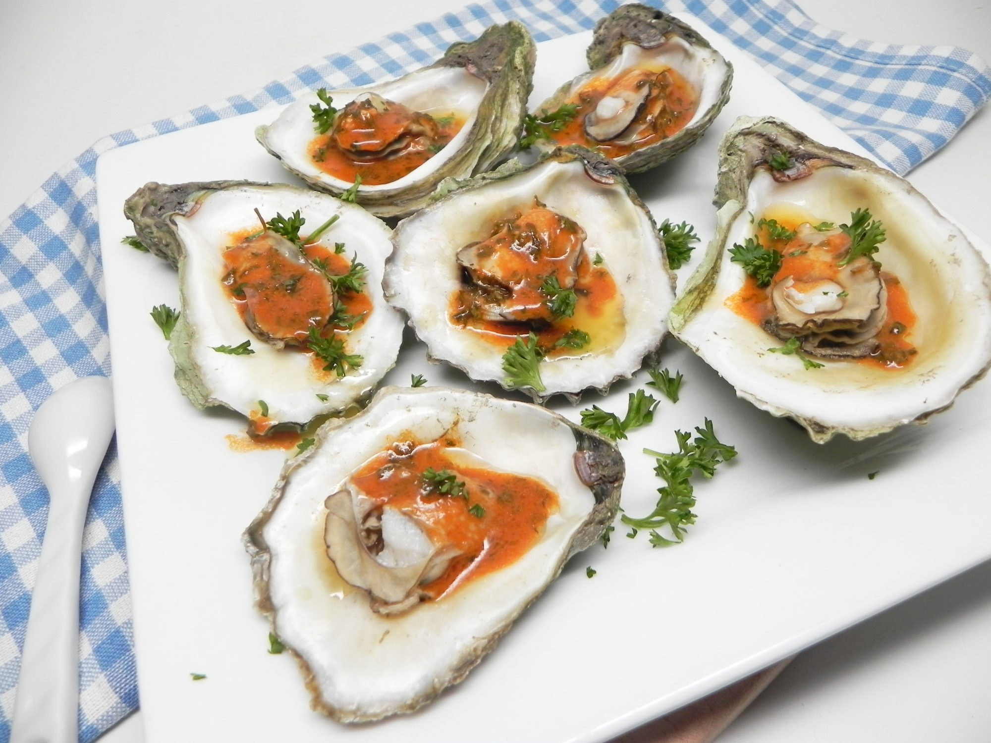 steamed oysters with spicy butter