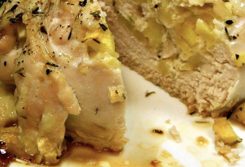 It couldn't be easier to make these thyme-seasoned chicken breasts stuffed with Cheddar cheese and chopped apples. This meal comes together in just 45 minutes.