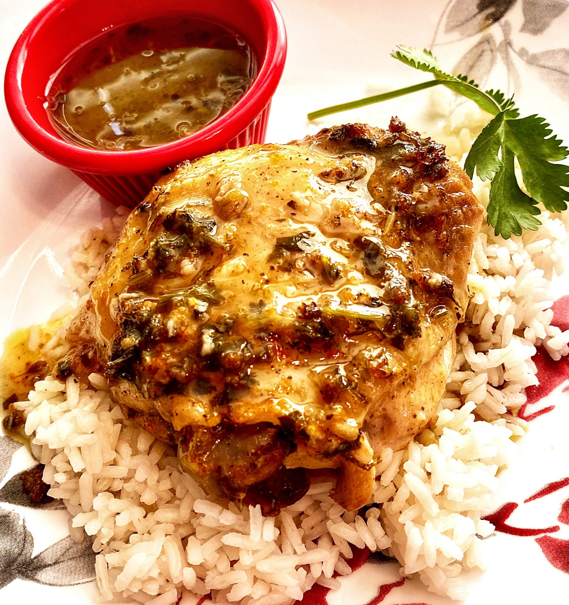 Do the prep the night before and allow these chicken thighs to soak up the citrusy marinade overnight. Serve with additional sauce on the side for spooning over chicken and rice, as recipe creator and Allrecipes Allstar Yoly suggests.