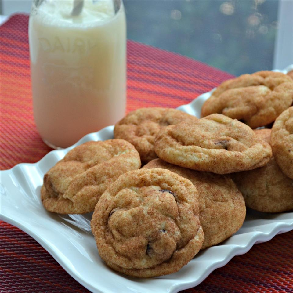 Cranberry Snickerdoodle Cookies on a white plate