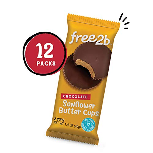 2-pack of Free2B Chocolate Sunflower Butter Cups
