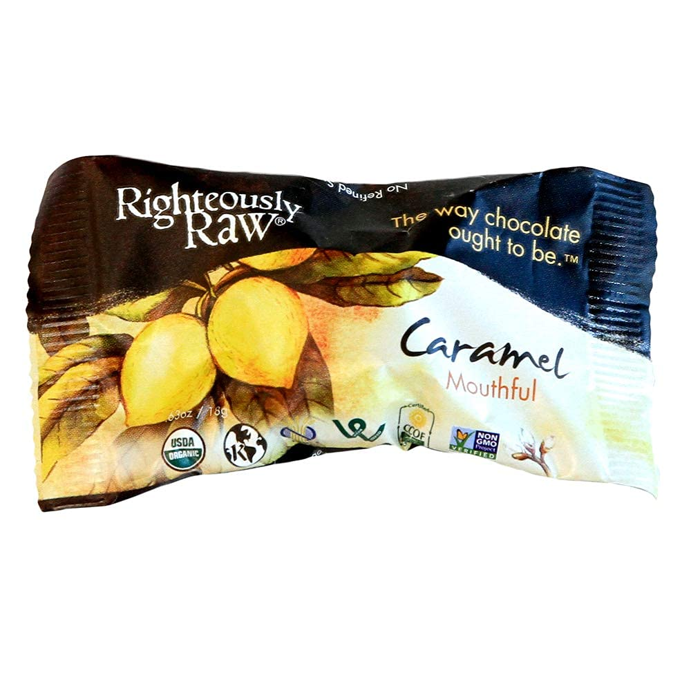 pack of Righteously Raw Chocolate Caramel candy