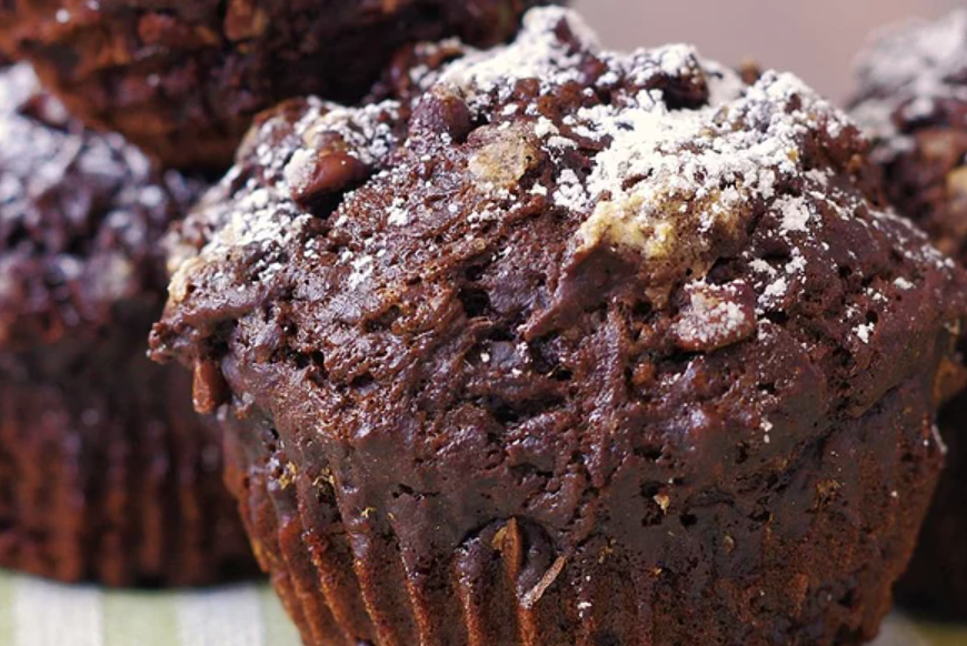 These double chocolate muffins are wonderfully moist and rich. Reviewer Tandra Whaley suggests adding a tablespoon of honey and a pinch of cinnamon for extra flavor.