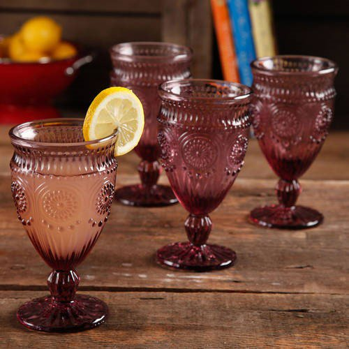 plum colored goblets