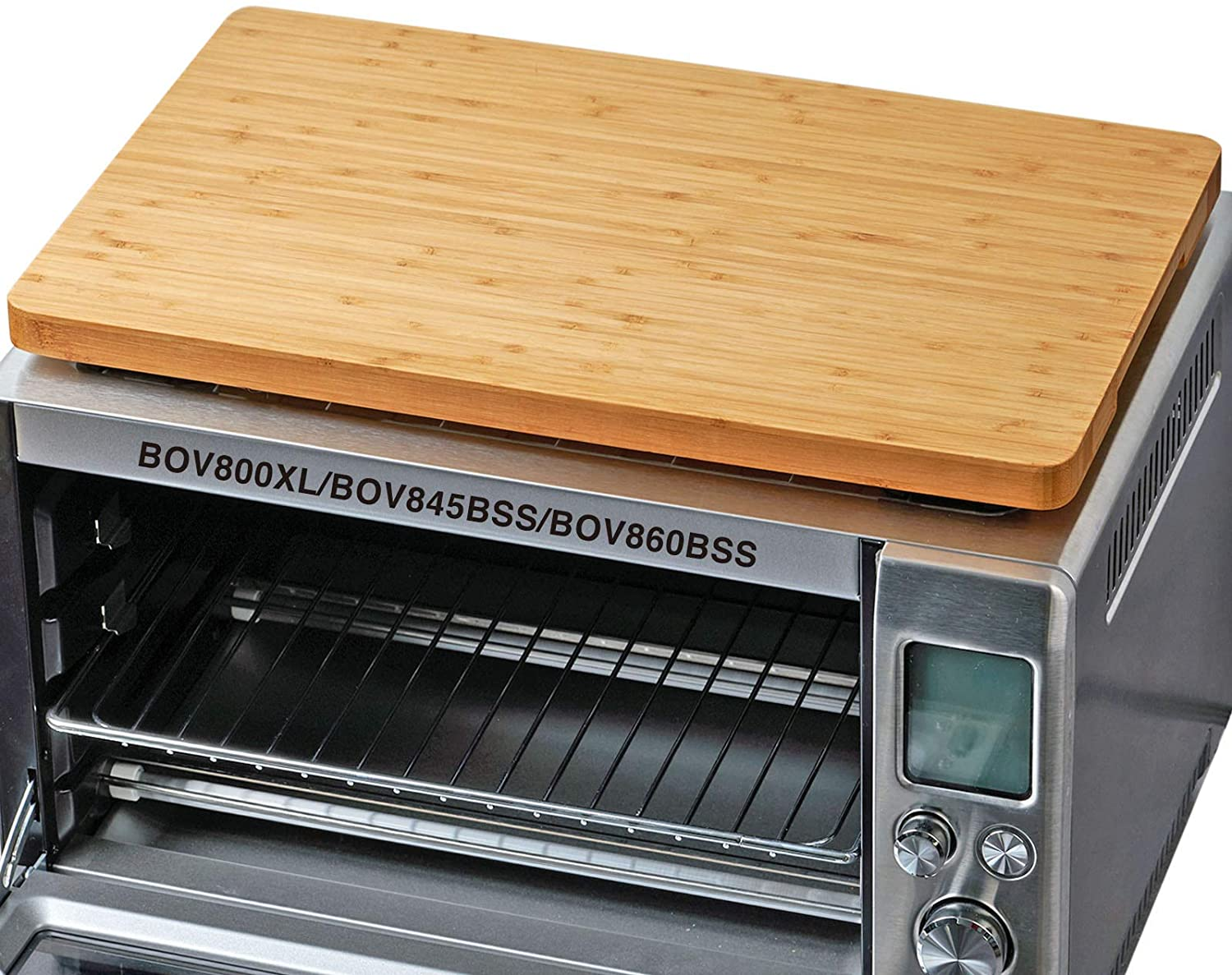Umilife Cutting Board for Toaster Oven on an oven