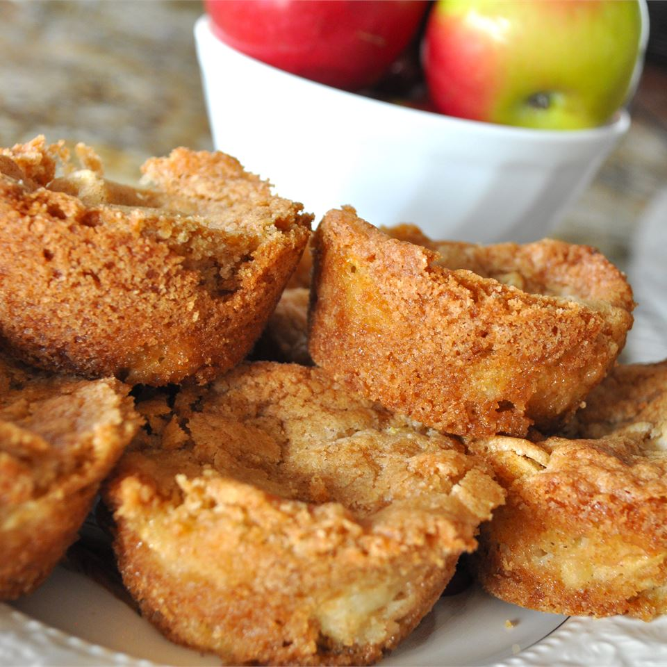 homemade Apple Brownies on a plate