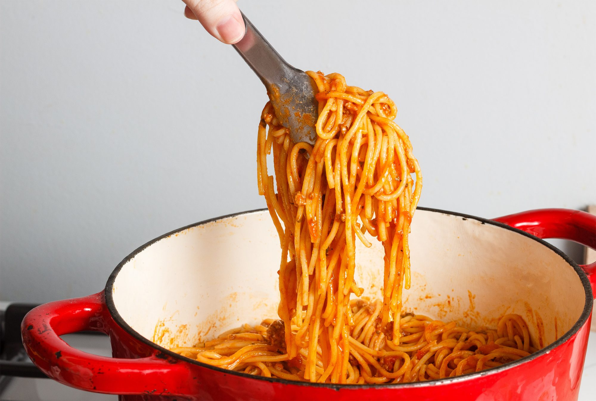 spaghetti cooked in one pot