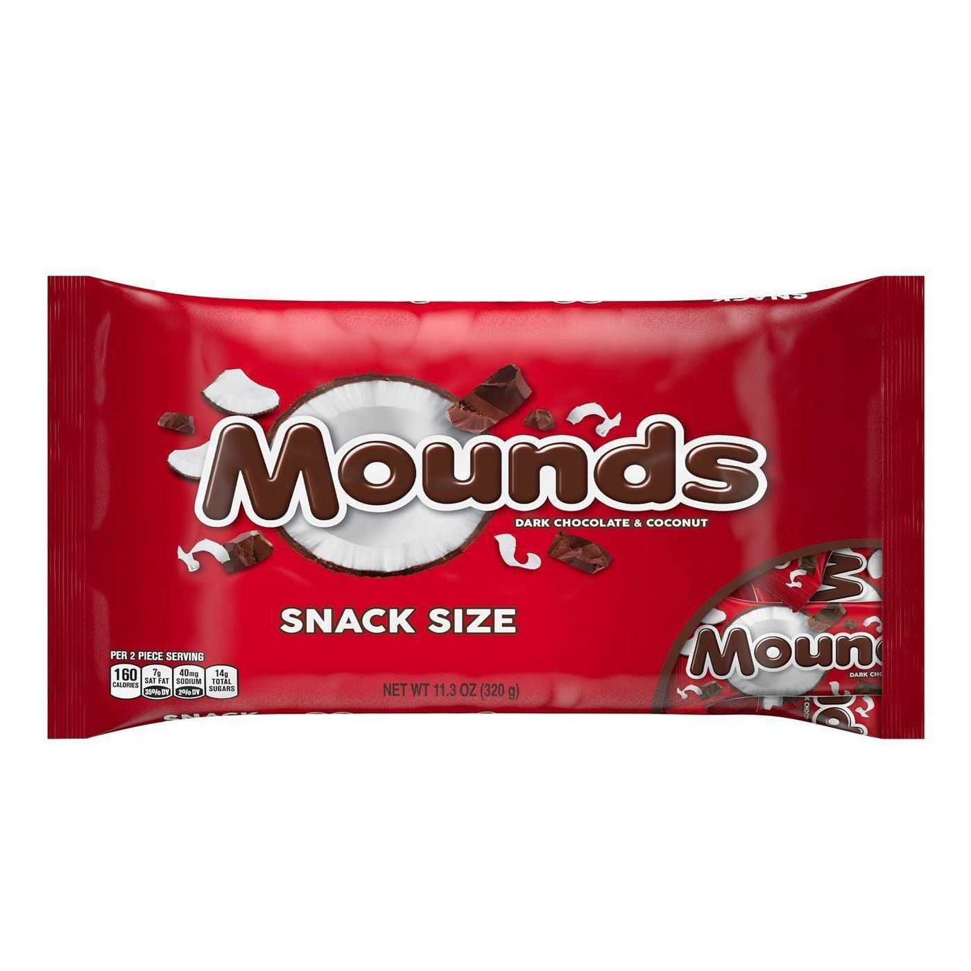 red bag of mounds