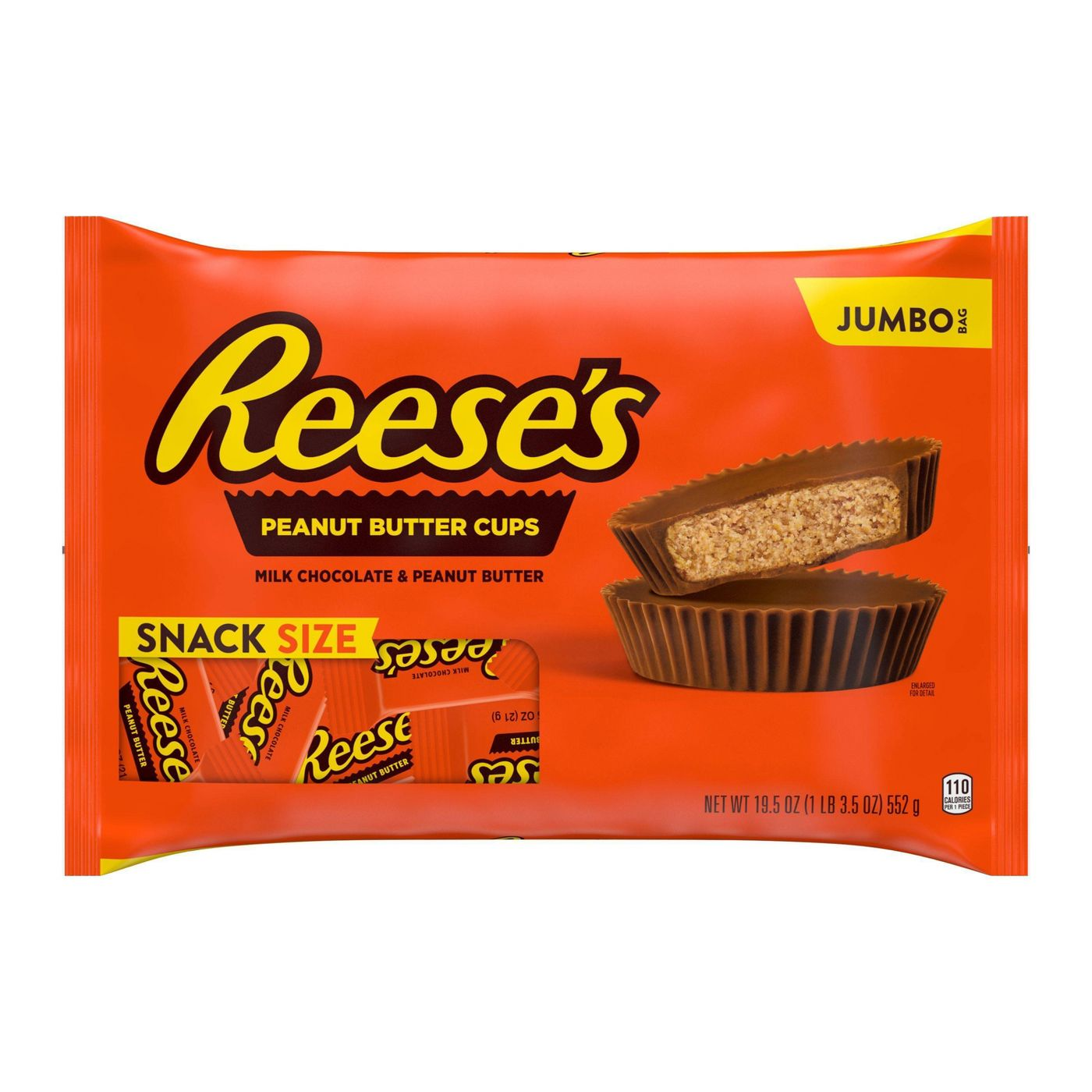 snack size reese's peanut butter cups in bag