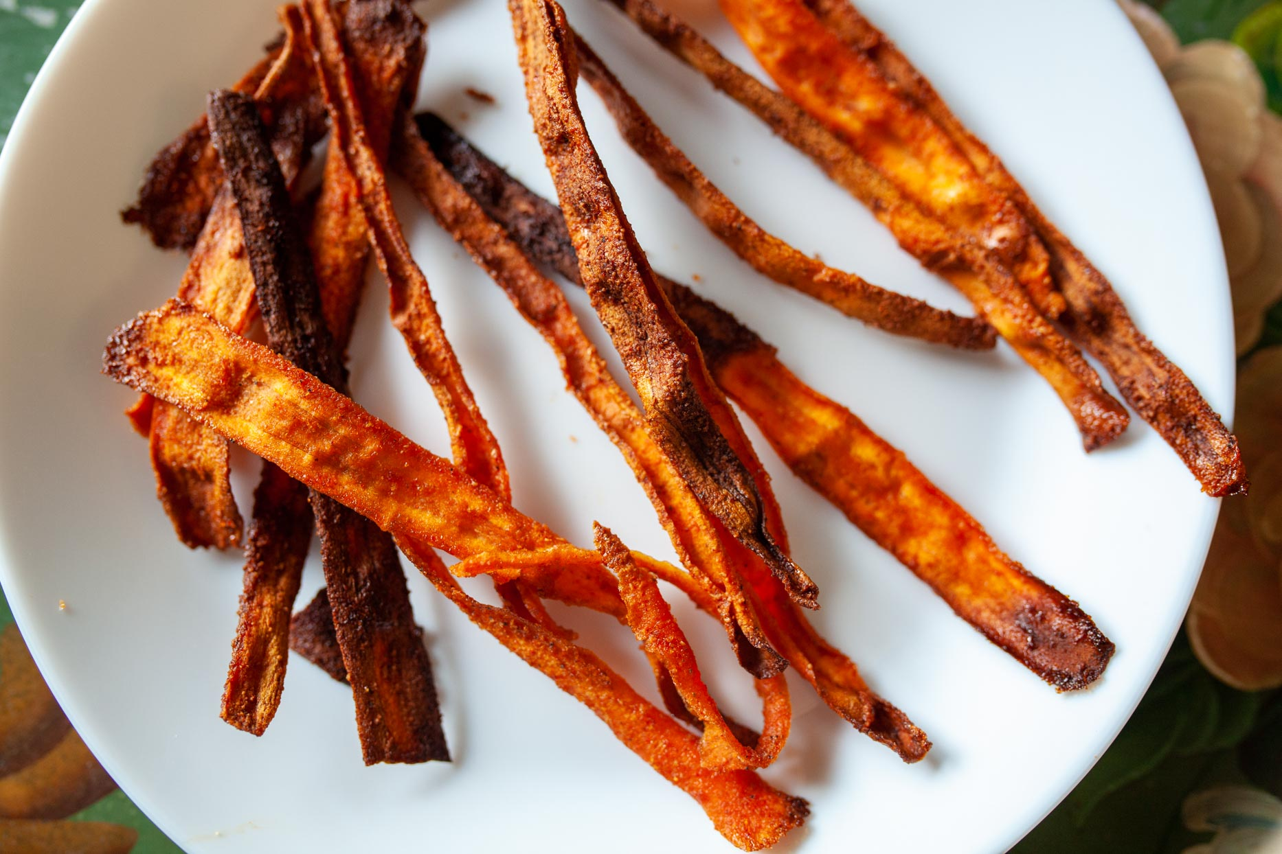 plate of carrot bacon