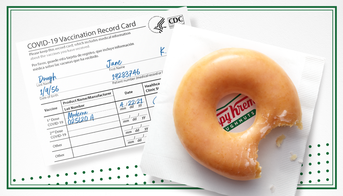 Anyone With a Covid Vaccine Can Get Free Krispy Kreme All Year