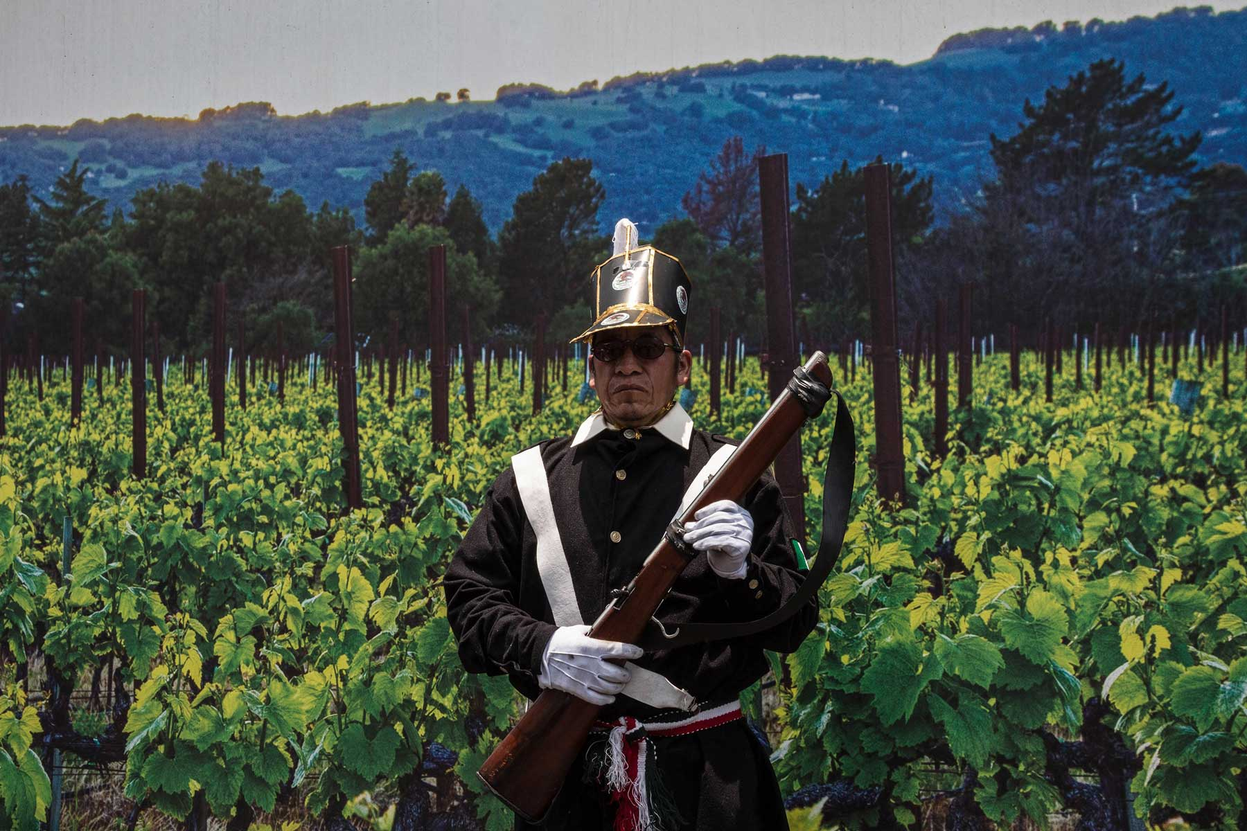"""A man stands in for reenactment on the anniversary of """"Battle of Puebla"""" in Mexico"""