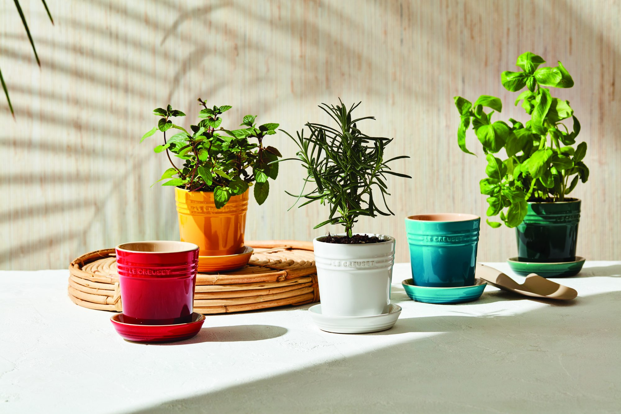 le creuset spring collection herb planters