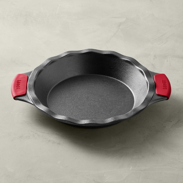 Lodge Bakeware Seasoned Cast Iron Pie Pan with Grips