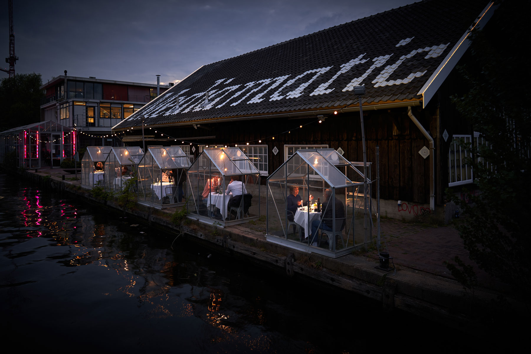 water side dining in Amsterdam