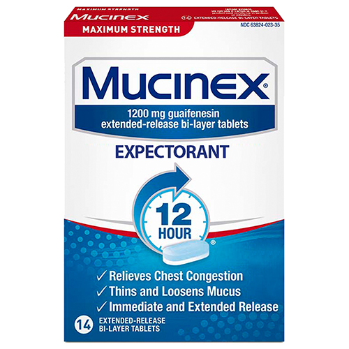 Mucinex Max Strength 12-Hour Chest Congestion Expectorant Tablets