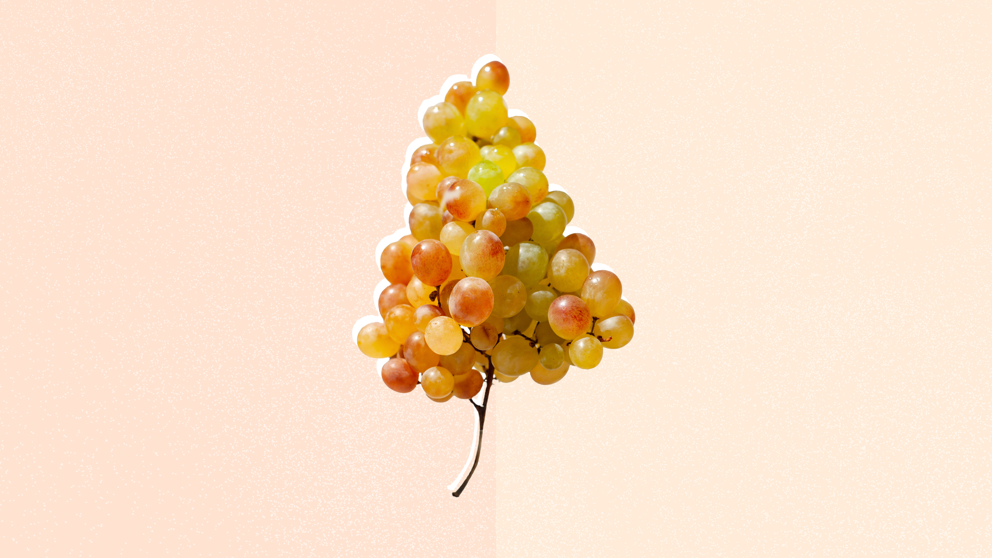 Grapes on a designed background