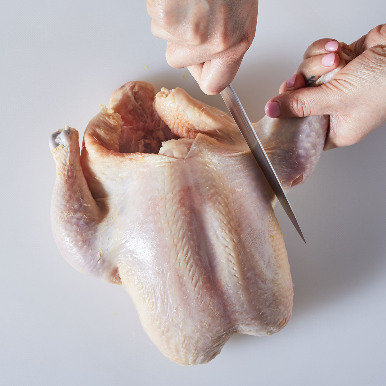 How to cut up a whole chicken step 2