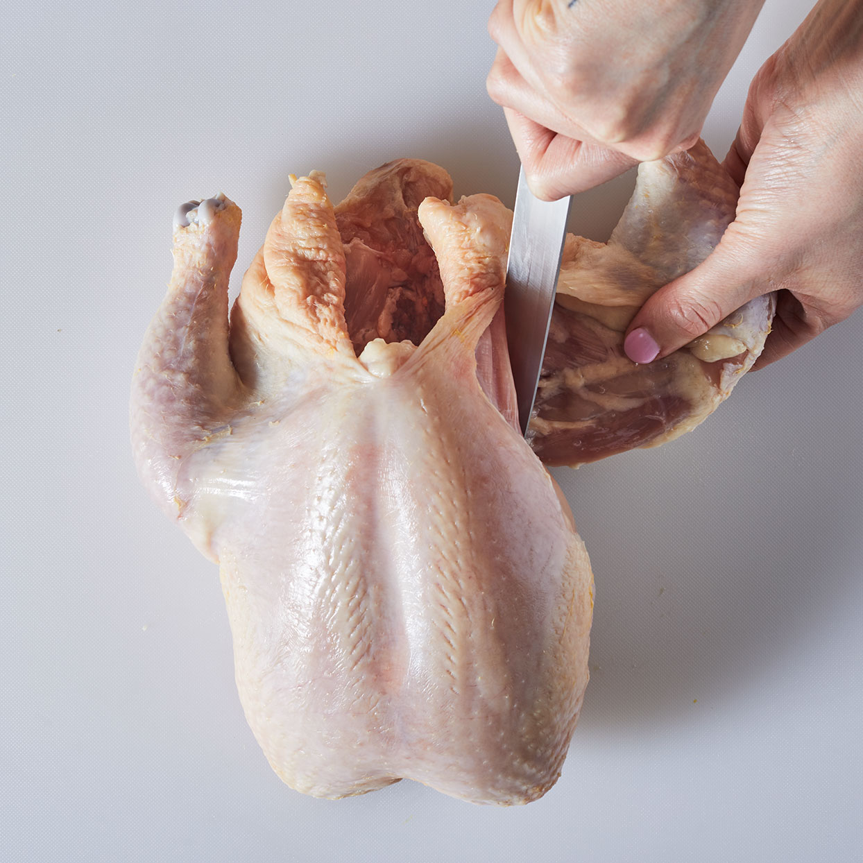 How to cut up a whole chicken step 3