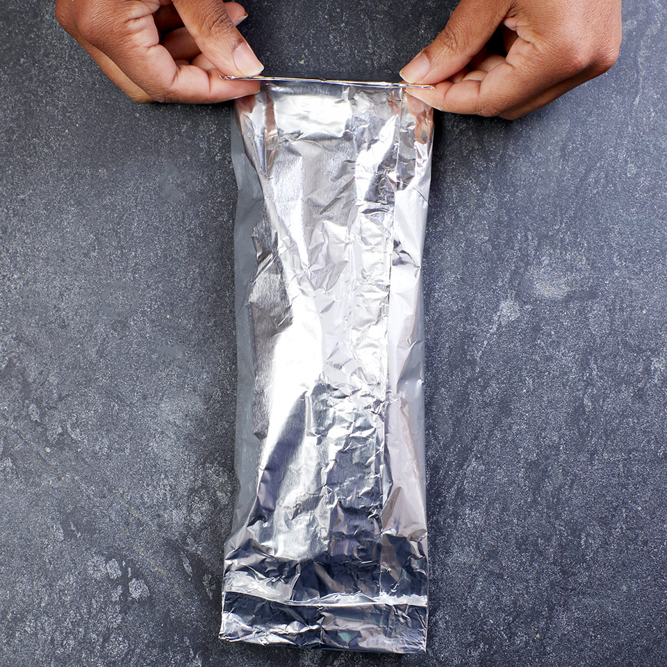 step 3 for making foil packets