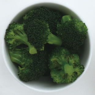 One serving of broccoli