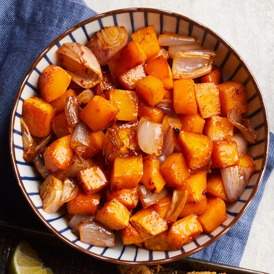 Maple-Chili Roasted Butternut Squash