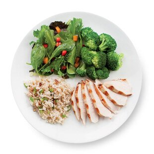 Diet Challenge Tip 9 Make Half Your Plate Veggies Eatingwell .in half plate, but then i realized that i honestly can't figure out what half plate is supposed to be. eatingwell