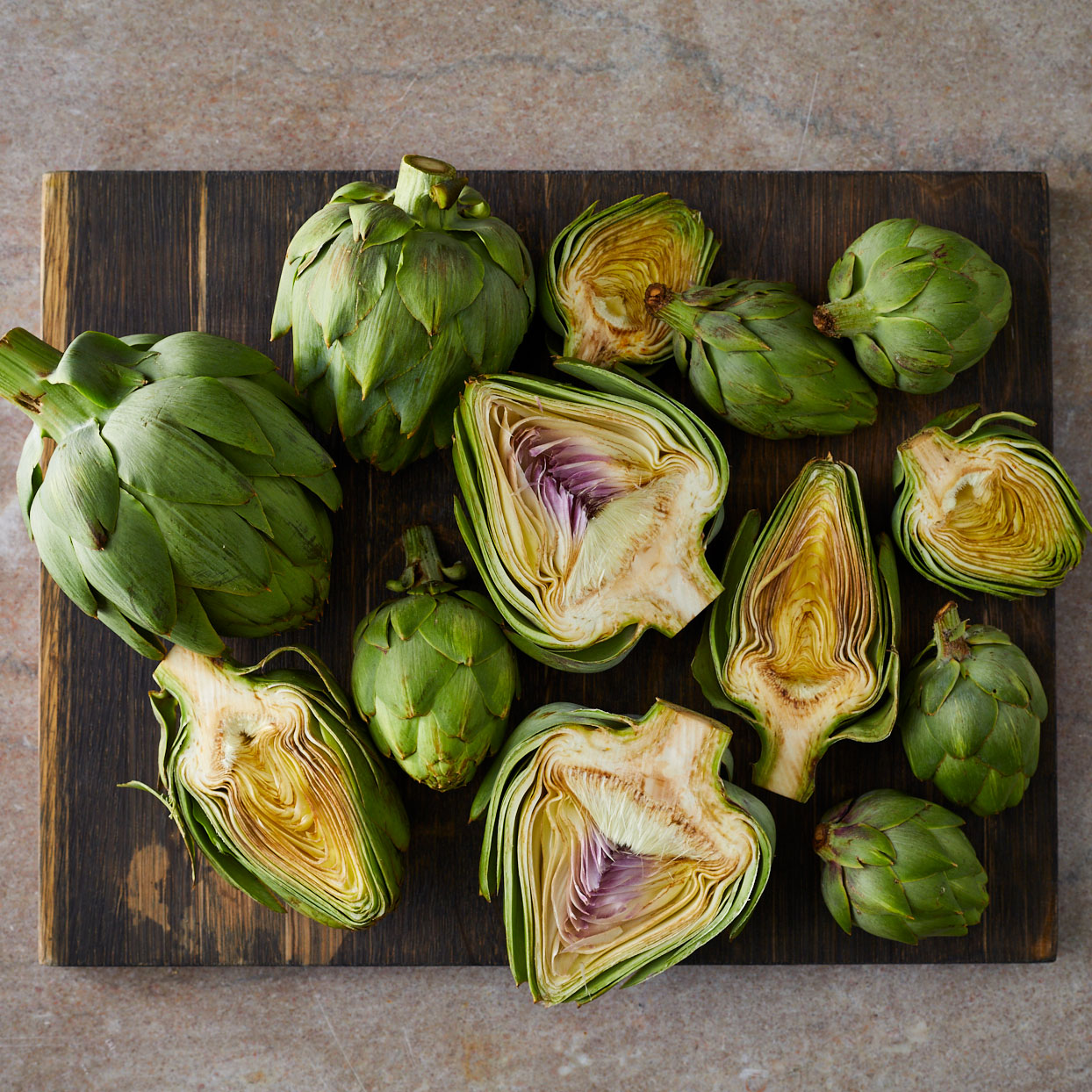 Artichokes-cut-in-half
