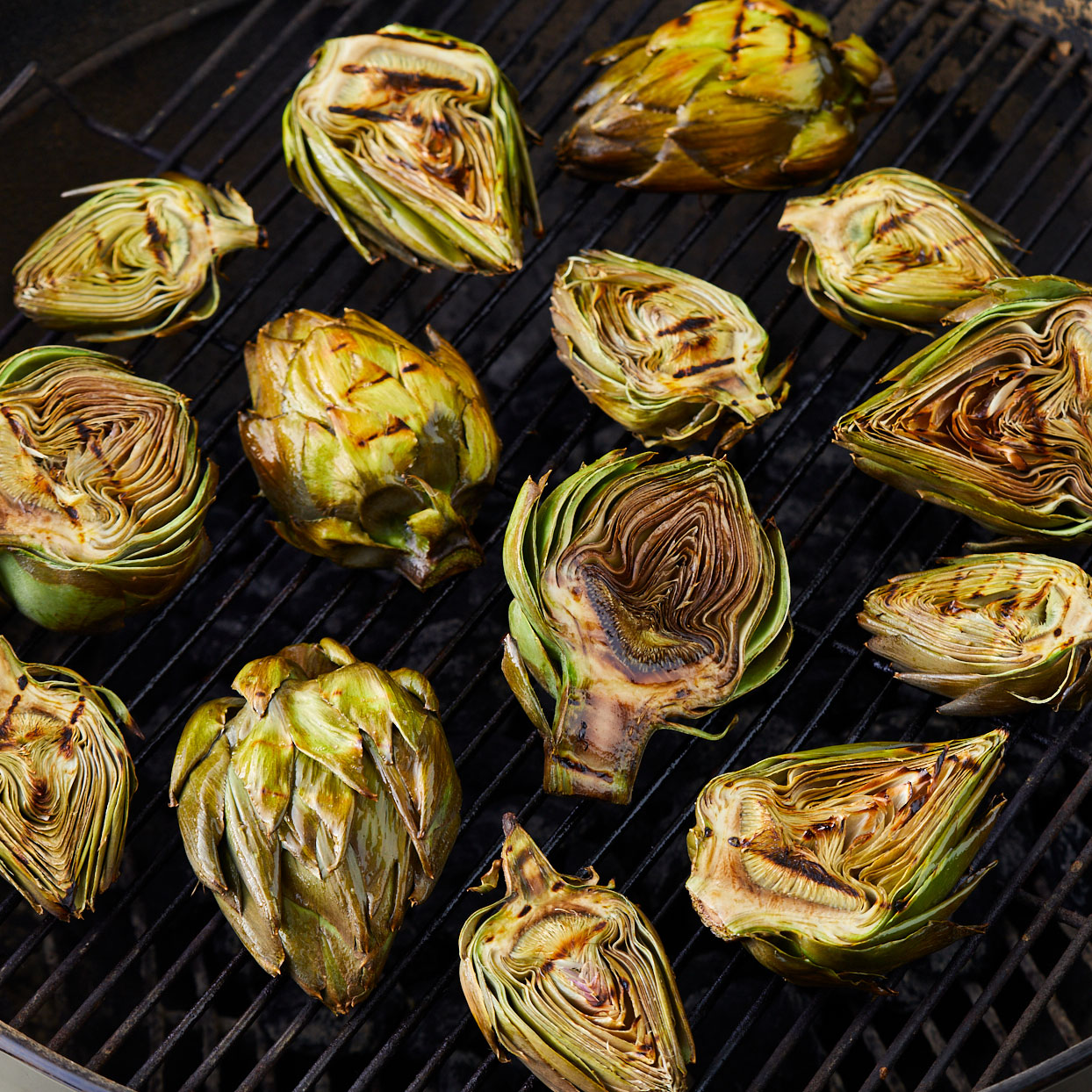 Artichokes-on-the-grill