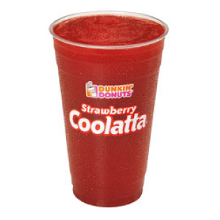 Dunkin' Donuts Strawberry Fruit Coolatta