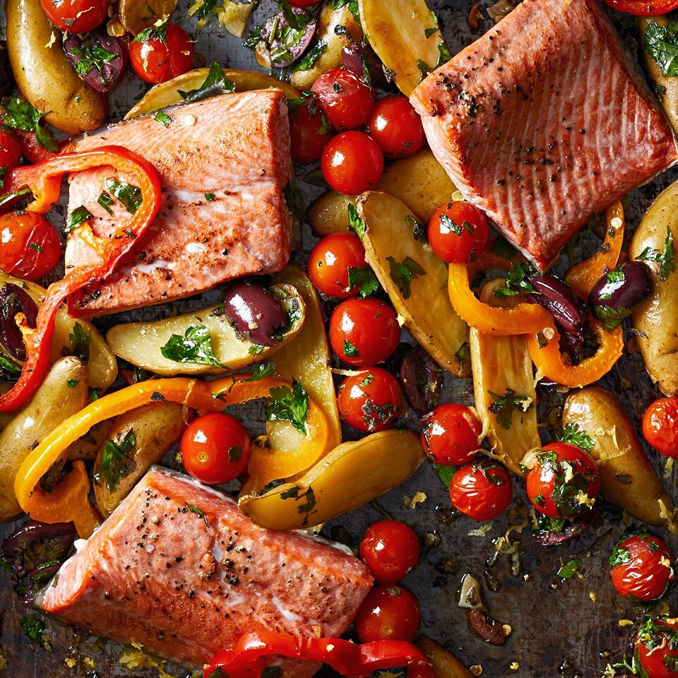 Greek Roasted Fish with Vegetables