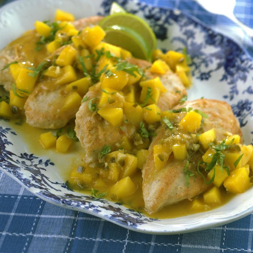 Chicken Saute with Mango Sauce