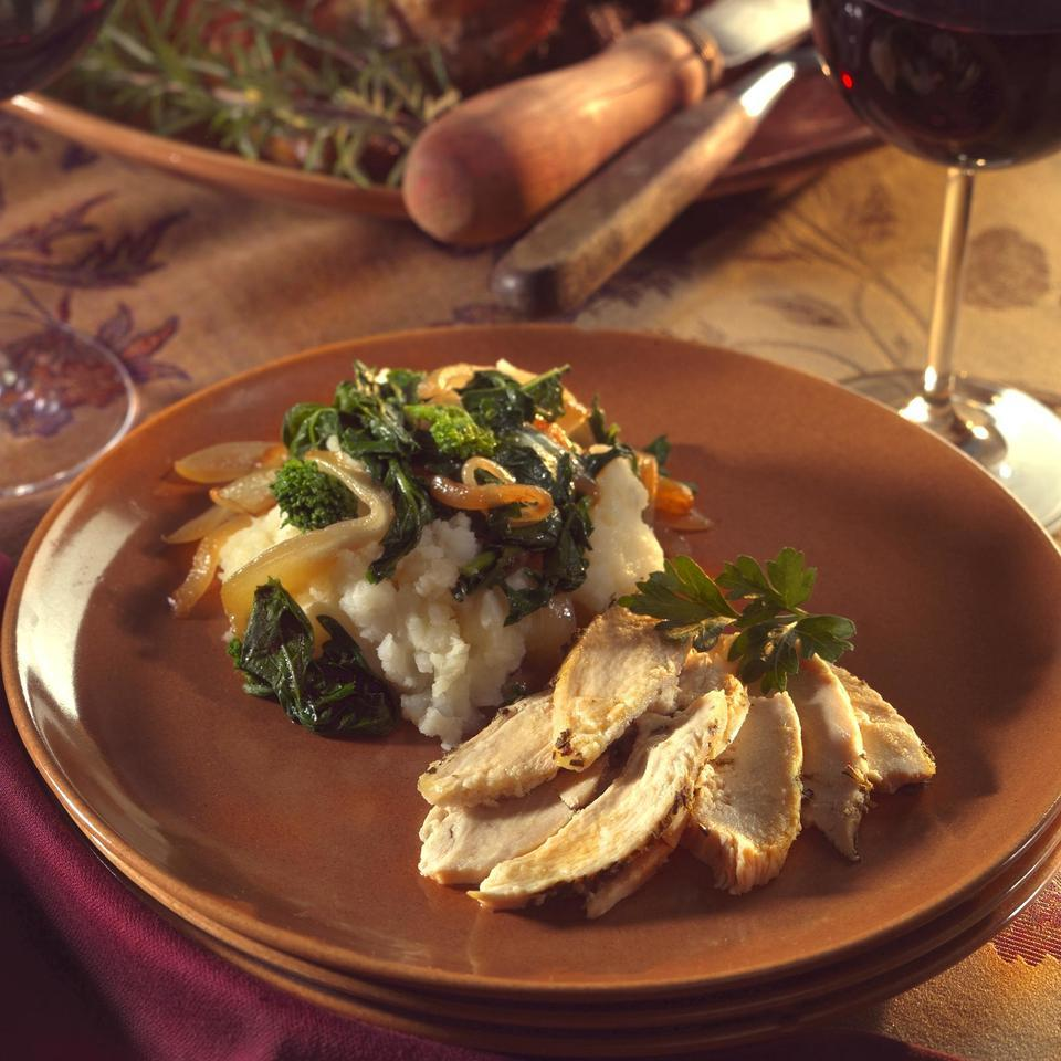 Mashed Potatoes & Turnips with Greens