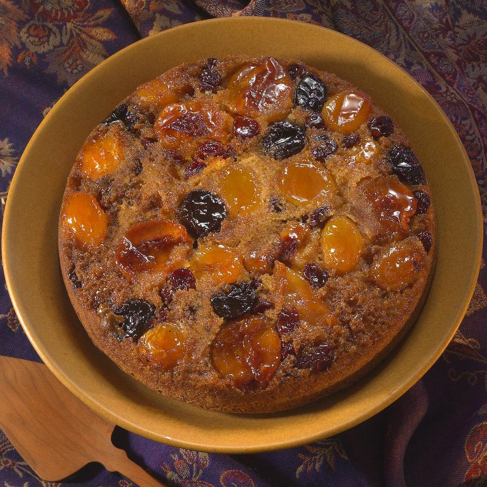Upside-Down Cake with Poached Dried Fruits