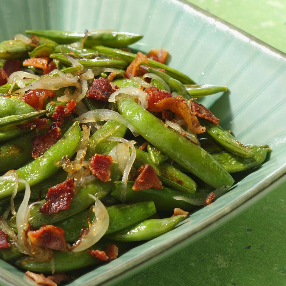 Roasted Snap Peas with Shallots