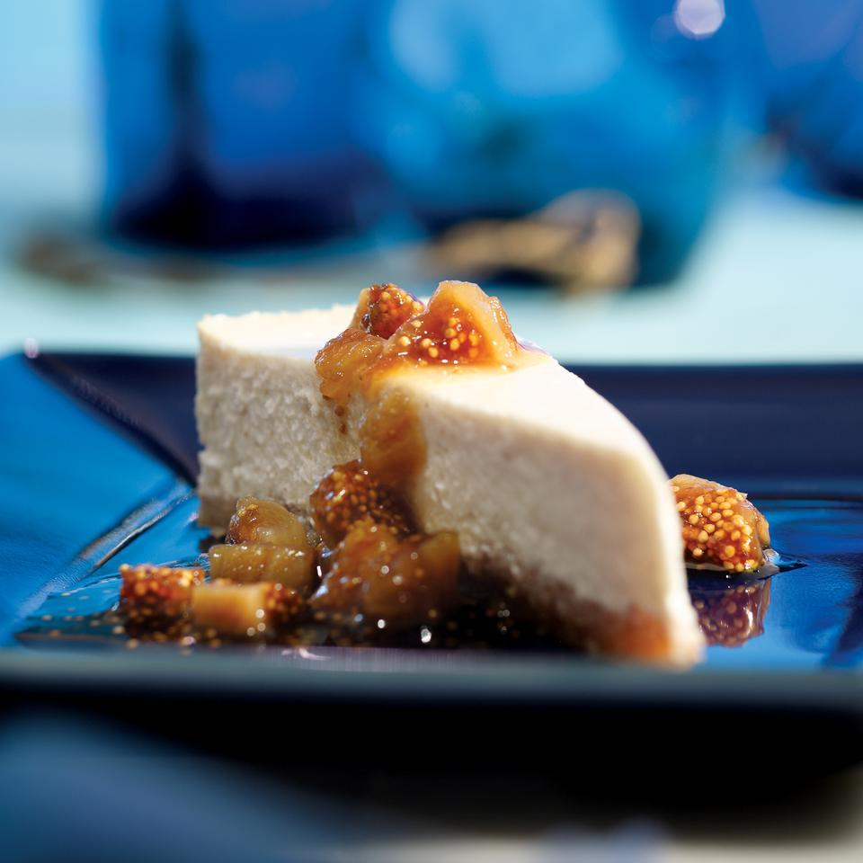 Greek Yogurt Cheesecake with Ouzo-Poached Figs