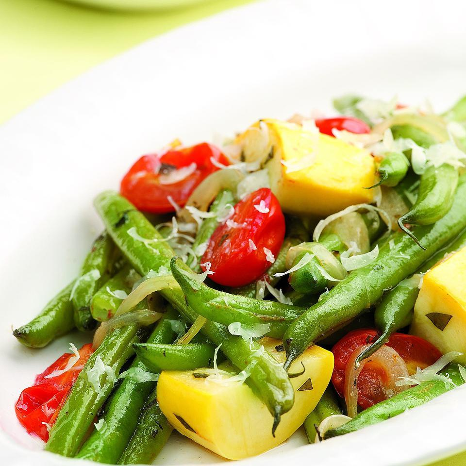 Braised Green Beans & Summer Vegetables