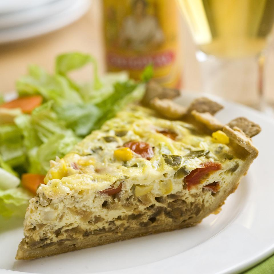 Mexican Vegetarian Quiche