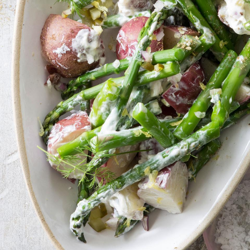 Asparagus & New Potatoes with Creamy Za'atar Dressing